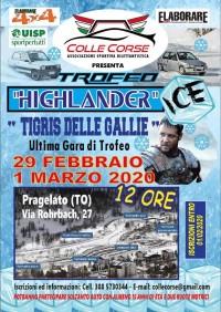 Trofeo HIGHLANDER  - Tigris delle Gallie Pista Giaccio  29 Febbraio 1 Marzo 2020 Pargelato (TO) Piemonte